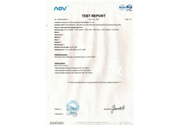 Product test report 1